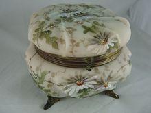 Exceptional C F Monroe Wavecrest Dresser Box Jewelry Casket on Ruby Lane