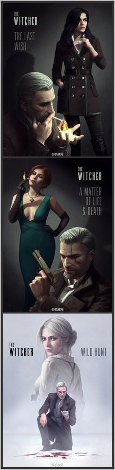 The Witcher reimagined as film noir. I love the books, my son loves the games