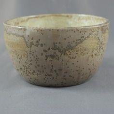 Coupelle ou bol, céramique, grès émail nucléé,beige rosé et blanc
