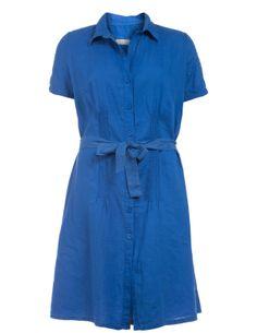 linen Dresses Shirt dress Linen Dress Dress Shirts Linen Open End Linen blue qTBvE