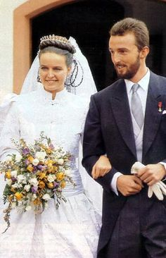 Wedding of Duchess Mathilde of Württemberg  and Hereditary Count Erich of Waldburg-Zeil and Trauchburg 1988
