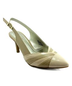 Love this Nude Dove Sling-Back Pump on #zulily! #zulilyfinds