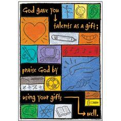 God gave you talents ARGUS Poster - T-A67707 | Trend Enterprises Inc. | Posters,Inspirational