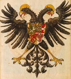 Kaiser Maximilian I (f°Vr) -- Wappenbuch, [S.l.] Süddeutschland, 1. Hälfte 16. Jh. [BSB-Hss Cod.icon. 392 d].