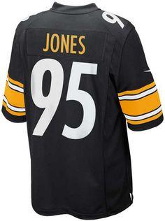 f3349f0ee00 Men s Jarvis Jones Pittsburgh Steelers Game Jersey