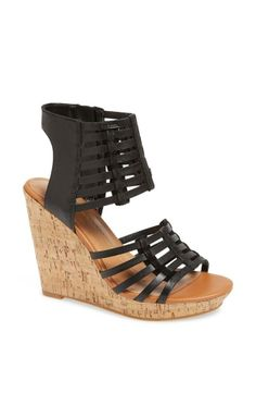 Cute leather cage sandals for spring.