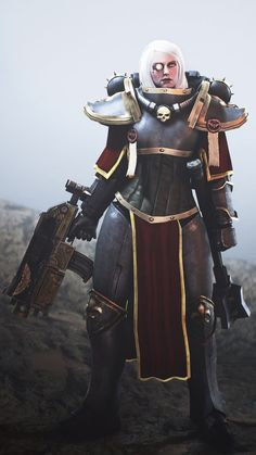 That is quite a battle-corset. Is she only wearing armor on her legs? The arm and chest pieces look much thinner.