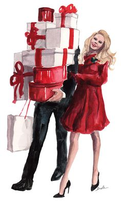 Christmas shopping.... ((I guess this will be the upside to having my husband w/ me again this year for Black Friday and just regular Christmas shopping... HE can carry the bag *&* pay for some things!! lol))