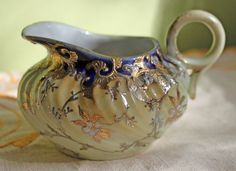 Porcelain Creamer. Creamer Decorated with by AnythingDiscovered