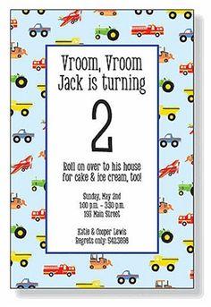 Zoom Zoom Invitations #kids #birthday #invitation