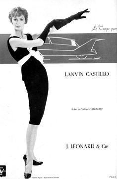 Lucinda Hollingsworth in black velvet cocktail dress by Lanvin-Castillo, photo by Jacques Decaux, 1958 1950s Fashion, Vintage Fashion, Vintage Style, Black Velvet Cocktail, Guy, Jeanne Lanvin, Fashion Advertising, Full Skirts, Vintage Magazines