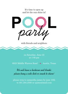 Adult Pool Party Invitations  Free Printable Invites From Www