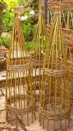 04 Willow Obelisk 1.8m Certified Organic By The Soil Association Made Here  At Our Workshop