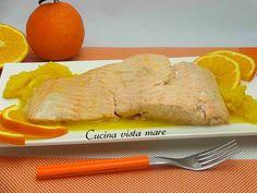 Salmone all'arancia Cucina vista mare