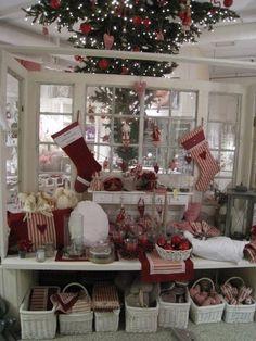 Scandinavian Christmas.... ha - they have an upside-down Christmas tree too!!!