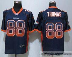 61ff71f04 NFL Denver Broncos  88 Thomas Drift Fashion Blue Elite Jerseys Lesean  Mccoy