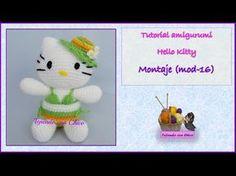 Tutorial amigurumi Hello Kitty - Montaje (mod-16)
