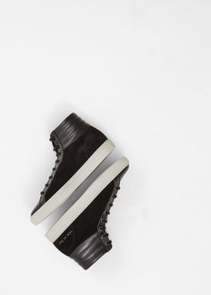 Common Projects Achilles Premium High Sneaker in Black #totokaelo #commonprojects #sneakers