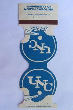 University of North Carolina UNC Tar Heels 1980 Football Sports Matchbook Cover