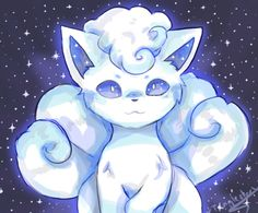 woomy-exe:  So I drew the Snowy Vulpix a while ago thought...