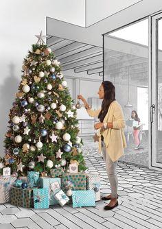 Christmas shop 2014 christmas trees decorated - Decoracion de arboles de navidad ...