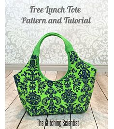 Free pattern: Chic lunch tote