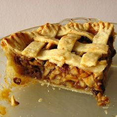 Mock Mincemeat Pie - HOORAY - growing up with a British family, we had the real deal - when I became a vegetarian at 18, I no longer was able to partake in this holiday staple - now I have a delicious vegetarian version to make