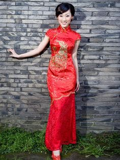 Qipao Long cheongsams dress Wedding Dresses