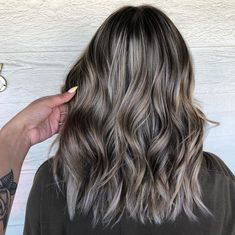 Long Wavy Ash-Brown Balayage - 20 Light Brown Hair Color Ideas for Your New Look - The Trending Hairstyle Ash Brown Hair With Highlights, Ash Brown Balayage, Ash Brown Hair Color, Ash Hair, Brown Blonde Hair, Hair Highlights, Ombre Hair, Dark Ash Brown, Brown Hair With Lowlights