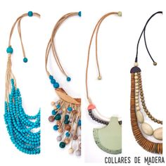 Collares de madera. #Collar #Madera #Bisuteria #Collares #Aralart #WoodenNecklace #Wooden #Necklace