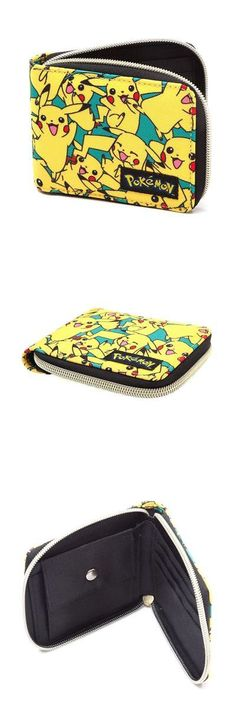 Wallets 57887: Official Mens Boys Pokemon All Over Pikachu Character Zip Wallet - New -> BUY IT NOW ONLY: $33.44 on eBay!