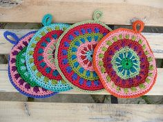 These are pretty! >>> potholder