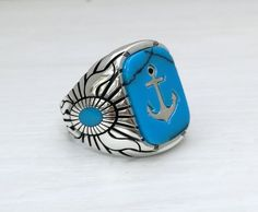 This beautiful ring is made of 925 sterling silver. WEIGHT 12 Gram stone size:13x18 mm FREE RESIZING We will make the ring size free.Please let us know your ring size after your kind order. FREE WORLDWIDE SHIPPING BY DHL (Without Russia (Normal post with tracking)) We ship the items through Turquoise Stone, Coral Stone, Garnet Stone, Unique Mens Rings, Rings For Men, Sterling Silver Mens Rings, Jewelry Stores Near Me, Beautiful Rings, Aquamarine Stone