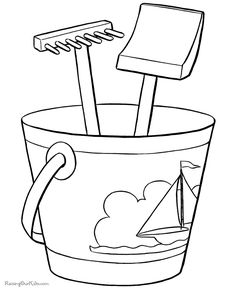 Printable Beach Coloring Pages - Dozens to choose -  Color your summer fun!