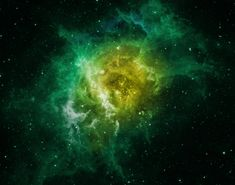 Green Nebula Wallpaper (page 3) - Pics about space
