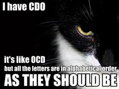 We know who we are...(but seriously OCD is a real thing and we shouldn't take it so lightly...moving on)