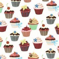 produtos com tecidos Cupcakes