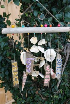 Inspirational Shell & Driftwood Windchime / by PeaceLoveDriftwood, $36.00