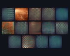 Ad: Copper teal backgrounds by Paper Farms on This is a collection of distressed copper geometric patterns on a vintage teal-blue background. Copper Colour Scheme, Copper Color, Colour Schemes, Colour Palettes, Bleu Turquoise Vintage, Azul Vintage, Geometric Patterns, Graphic Patterns, Vintage Patterns