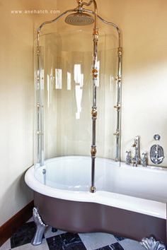 Porcher Clawfoot Tub With Shower   Google Search