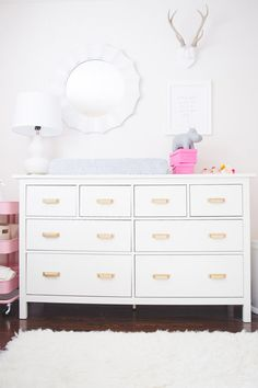 dresser - the gold handles dress this up for a nursery through to teens through to adult!