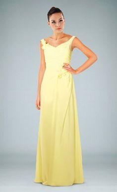 Pretty V-Neckline Zippered Chiffon Evening Dress