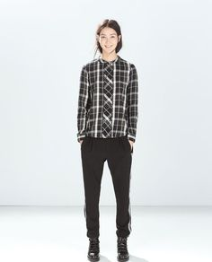 ZARA - TRF - DOUBLE-BREASTED CHECKED SHIRT