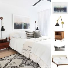 Posted another goodie from @amberinteriors on the blog a few days ago if you missed it! This airy bedroom was a close runner up so we ran with it  Tap for these sources or double tap to get the links emailed to you: @liketoknow.it www.liketk.it/1XVNS #liketkit #CopyCatChic