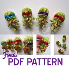 Teenage Mutant Ninja Turtles: free PDF pattern