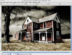 Gimped! Gimp Tutorials: Gimp Tutorial: How To Use Gimp to Make the Abandoned House Creepy
