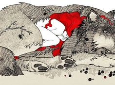 Exhausted, she curled up in the very terror she... | Wolf's Journey In Mind