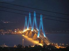 The Rio–Antirrio Bridge (officially the Charilaos Trikoupis Bridge) is the world's longest multi-span cable-stayed bridge. It crosses the Gulf of Corinth near Patras, linking the Peloponnese to mainland Greece, and is 9,449 feet long.