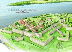 Citadelle de Blaye - vue du ciel
