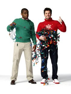 James Roday and Dule Hill as Shawn Spencer and Burton Guster (Gus) on Psych